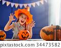 girl with pumpkin 34473582