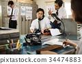 company employee, office worker, white collar woker 34474883