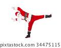 Happy Christmas Santa Claus dancing 34475115