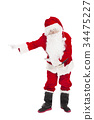 merry Christmas Santa Claus with welcome gesture 34475227