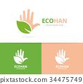 logo, hand, leaf 34475749