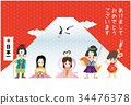 new year's card, new years card template, japanese folklore 34476378