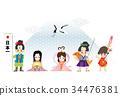 新年贺卡 贺年片 新年贺卡模板 34476381