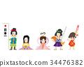 新年賀卡模板 新年賀卡材料 公主 34476382