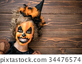 Halloween Pumpkin Autumn Holiday Concept 34476574