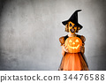 Halloween Pumpkin Autumn Holiday Concept 34476588