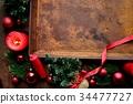 장식품, 크리스마스, 프레임 34477727