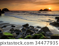 Pacific Ocean Sunset 34477935