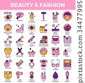 Beauty and fashion Icons 34477995