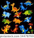 ไดโนเสาร์,สัตว์เลื้อยคลาน,สัตว์ 34478769