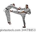 karate men teenager student fighters fighting 34478853
