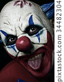 scary evil clown taking out his tongue 34482304