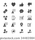 Feedback and review flat icons 34483984