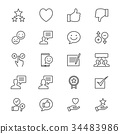 Feedback and review thin icons 34483986