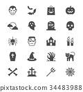 Halloween flat icons 34483988