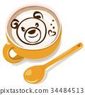 라떼 아트 곰 34484513