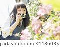 高中女生 一次性相机 拍照 34486085