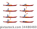 man in kayak set 01 34486460