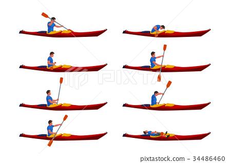 man in kayak set 01 34486460