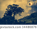 Scientific natural phenomenon. Total solar eclipse 34486876