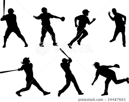 baseball silhouettes collection 6 34487663