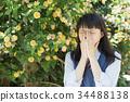 高中女生 花朵 花卉 34488138