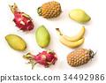 mango pitaya pineapple 34492986