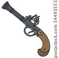 Vintage percussion handgun 34493553