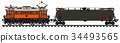 电动 火车头 机车 34493565