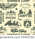 Summer camp seamless pattern or background. 34493581