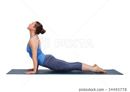 Woman Doing Ashtanga Vinyasa Yoga Asana Urdhva Stock Photo 34493778 Pixta