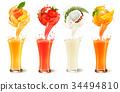 vector, juice, fruit 34494810