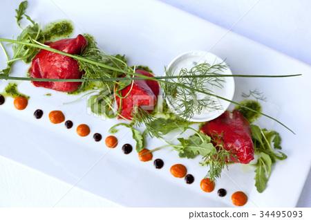 Fish dish 34495093