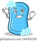 Successful blue soap character cartoon 34499246