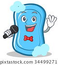 Singing blue soap character cartoon 34499271