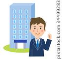 Company and businessman 34499283