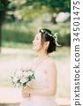 ชุดแต่งงานผู้หญิงเจ้าสาวเจ้าสาว 34501475