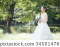 웨딩 드레스 여성 신부 신부 34501476