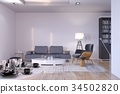 New contemporary living room with sofa and chair 34502820