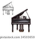 piano, music, instrument 34503650