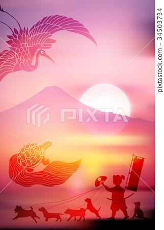 狗年 桃太郎 富士山 34503734