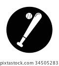 Baseball Icon illustration design 34505283