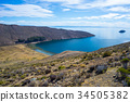 Scenic dramatic landscape on Island of the Sun 34505382