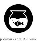 Fish Bowl Icon illustration design 34505447