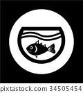 fish in aquarium icon illustration design 34505454