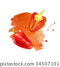 红色 红 胡椒 34507101