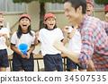 参加运动会的父母 34507535