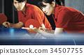 乒乓球 男人和女人 男女 34507755