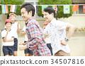 參加運動會的父母 34507816