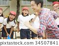 运动日 夜晚活动日 小学生 34507841
